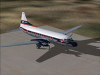 Screenshot of Delta Air Lines Convair 440 on the ground.