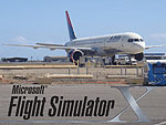 Splash Screen using a photo of Delta Airlines 757-200.