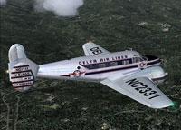 Screenshot of Delta Airlines Beech 18 in flight.