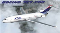 Screenshot of Delta Airlines Boeing 727-200 in flight.