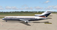 Screenshot of Delta Airlines Boeing 727-232 on the ground.