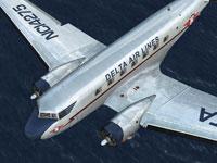 Screenshot of Delta Airlines Douglas DC-2 in flight.