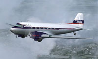 Screenshot of Delta Airlines Douglas DC-3 in flight.