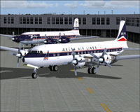 Screenshot of Delta Airlines Douglas DC-7 on the ground.