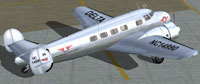 Screenshot of Delta Airlines Lockheed Electra L10A on the ground.