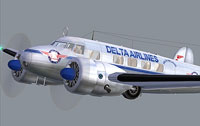 Screenshot of Delta Airlines Lockheed L-10 Electra.