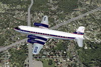 Screenshot of Delta Douglas DC-6 in flight.