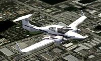 Screenshot of Diamond DA42 Twin Star N68MJ in flight.