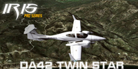 Screenshot of Diamond DA42 Twin Star in flight.