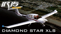 Screenshot of Diamond Star DA40 N777ZV in flight.