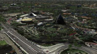 Screenshot of Disneyland CA Monorail scenery.