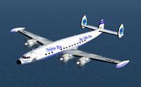 Screenshot of Dolphin Blue Super Connie in flight.