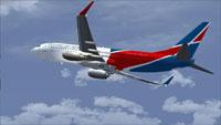 Screenshot of Dominican Airways Boeing 737-800 in flight.