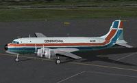 Screenshot of Dominicana de Aviation DC-4 on the ground.