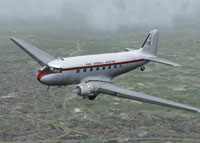 Screenshot of Don Everall Aviation Ltd. DC-3 in flight.