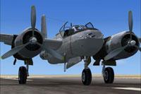 Screenshot of Douglas A-26B Invader on the ground.