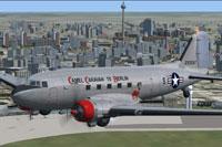 Screenshot of Douglas C-47 in flight.