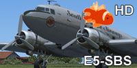 Screenshot of South Pacific Airways Douglas C-47 idle on the ground.