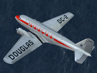 Screenshot of Douglas DC-2 NC1934D in flight.