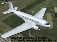 Screenshot of a blank Douglas DC-2 in flight.