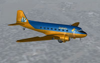 Screenshot of Douglas DC-3 Casablanca in flight.