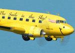 "Screenshot of Douglas DC-3 ""Duggy"" in the air."