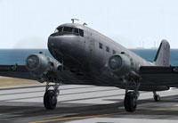 Screenshot of Douglas DC-3 demonstrating the improved propeller bitmap.