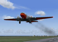 Screenshot of Douglas DC-3 taking off.
