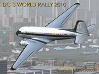 Screenshot of Douglas DC-3 World Rally 2010 in flight.