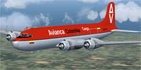 Screenshot of Avianca Douglas DC-4 HK-1027 in flight.
