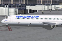 Screenshot of Northern Star Airlines DC-9-50 on the ground.