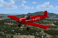 Screenshot of Druine Turbulent G-APTZ in flight.