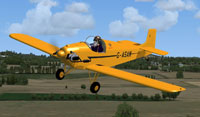 Screenshot of Druine Turbulent G-ASAM in flight.