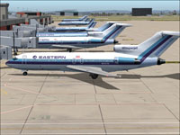 Screenshot of EAL Boeing 727-100 on the ground at borading gate.
