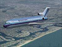 Screenshot of EAL Boeing 727-200 in flight.