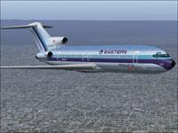 Screenshot of EAL Boeing 727-200 Air Shuttle Plus in flight.