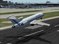 Screenshot of EAL Boeing 727-200 over runway.