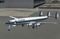 Screenshot of EAL Lockheed Constellation 1049G on the ground.