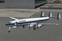 Screenshot of EAL Lockheed Constellation 1049G on the ground.