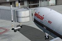 Screenshot of Swissair Douglas DC-10-30 at the gate.