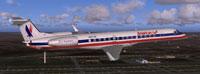 Screenshot of AE ERJ145XR in flight.