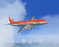 Screenshot of Eagle Bermuda Viscount 805 in flight.