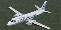 Screenshot of Early Hazelton Airlines SAAB 340B in flight.