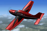 Screenshot of East Cooper KLRO Piper in flight.