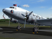 Close up of Eastern Air Lines Douglas DC-2 on the ground.