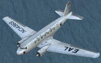 Screenshot of Eastern Air Lines Douglas DC-2 NC14969 in flight.
