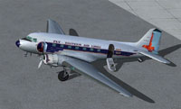 Screenshot of Eastern Air Lines Douglas DC-3 on the ground.