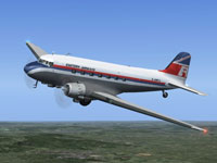 Screenshot of Eastern Airways Douglas DC-3 in flight.
