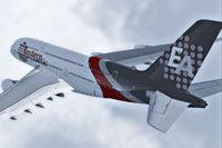 Screenshot of Eastern Atlantic VA Airbus A380-841 in flight.
