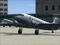 Screenshot of Eastern Cargo Douglas DC-3 on the ground.